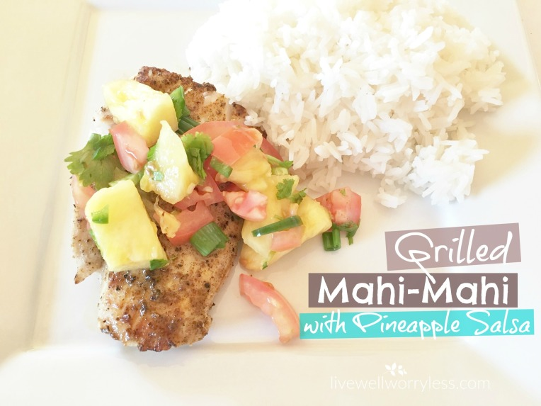 Grilled Mahi Mahi Pineapple Salsa