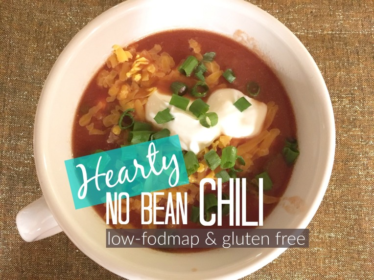 No Bean Low Fodmap Chili